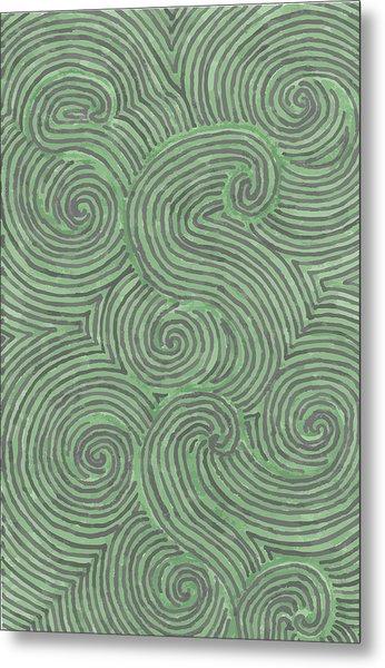 Swirl Power Metal Print