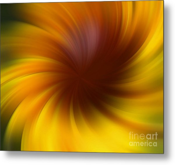 Swirling Yellow And Brown Metal Print