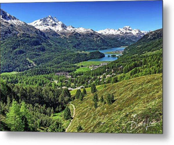 Swiss Alps And Lake Metal Print
