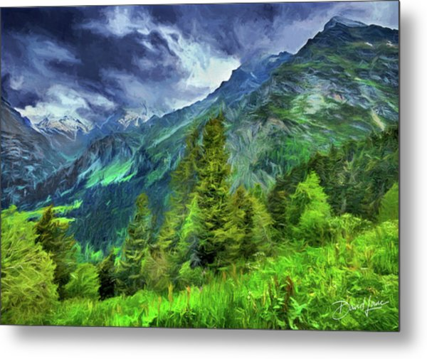 Swiss Countryside Metal Print