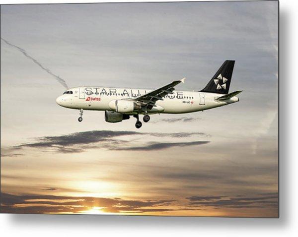 Swiss Star Alliance Livery Airbus A320-214 3 Metal Print