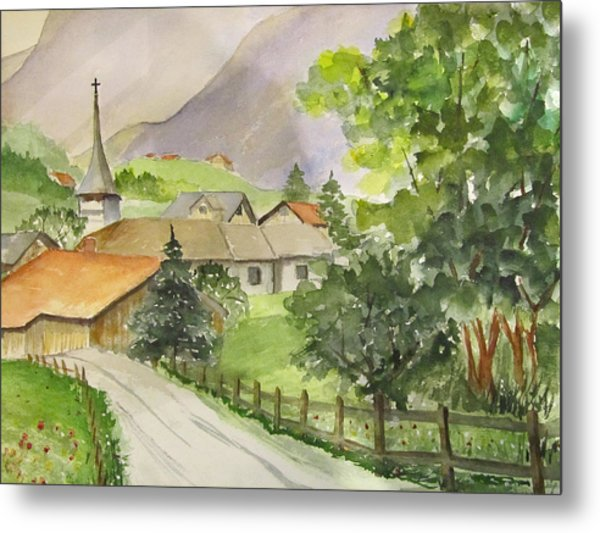 Swiss Village Metal Print