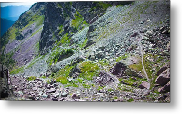 Switchbacks Below Comeau Pass Metal Print