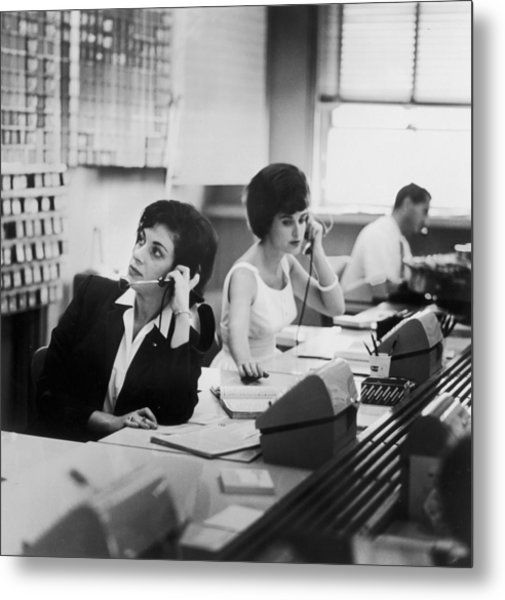 Switchboard Metal Print by Archive Photos