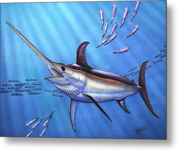 Swordfish In Freedom Metal Print