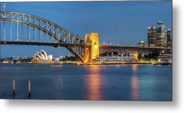 Sydney Harbour At Dusk Metal Print