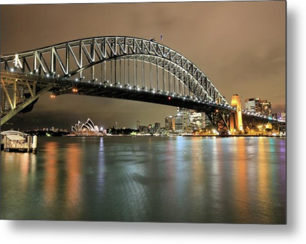 Sydney Harbour At Night Metal Print
