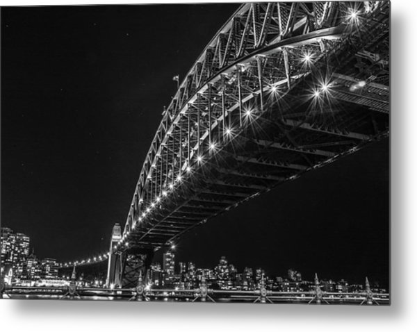 Sydney Harbour Bridge At Night Metal Print