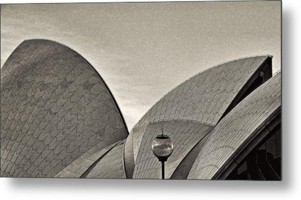 Sydney Opera House Roof Detail Metal Print