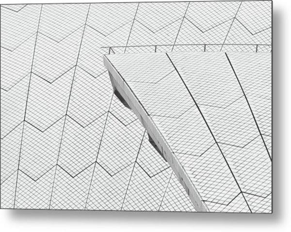 Sydney Opera House Roof No. 10-1 Metal Print