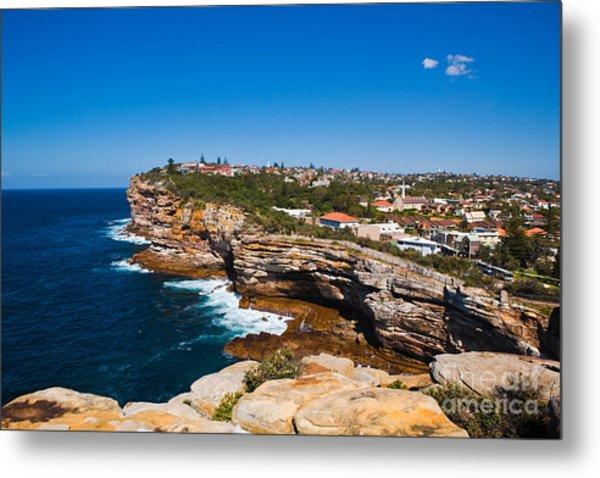 Sydney Sandstone Clifftop Metal Print by John Buxton