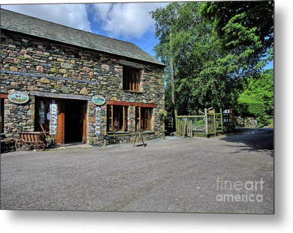 Syke Farm Tea Room Metal Print