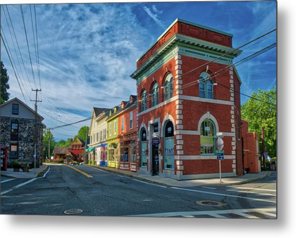 Metal Print featuring the photograph Sykesville Main St by Mark Dodd