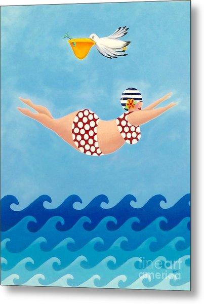 Sylvia Diving II Metal Print