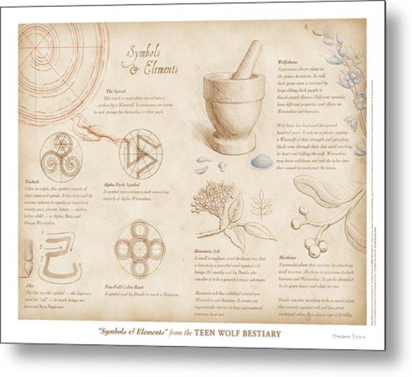 Symbols And Elements Metal Print