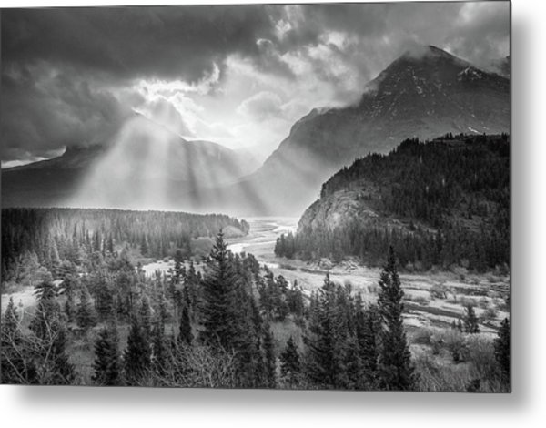 Metal Print featuring the photograph Symphony Of Light // Many Glacier, Glacier National Park by Nicholas Parker