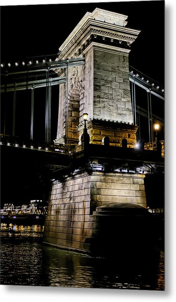 Szechenyi Chain Bridge Metal Print