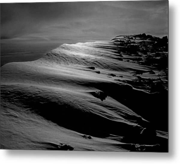 T-213312 Windblown Ice On Humphreys Peak Metal Print