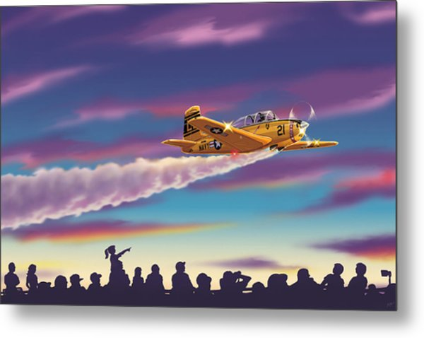 T-34 Night Show Metal Print by Barry Munden