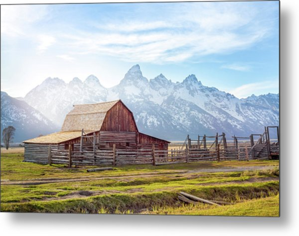 T. A. Moulton Barn // Grand Teton National Park  Metal Print
