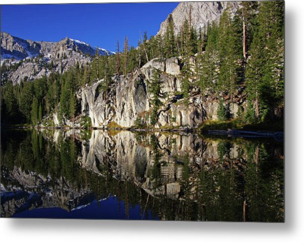 T J Lake Reflections Metal Print