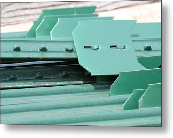 T Posts Metal Print by Laurie With