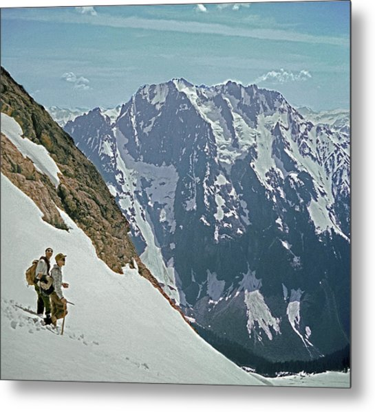 T04402 Beckey And Hieb After Forbidden Peak 1st Ascent Metal Print