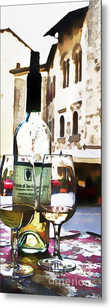 Table For Two Metal Print by Barb Pearson