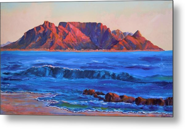 Table Mountain Aglow Metal Print