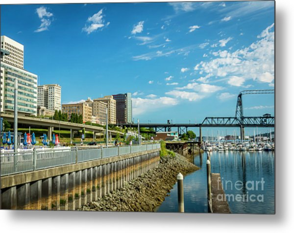 Tacoma And 11th Street Bridge Metal Print