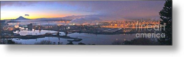 Tacoma Dawn Panorama Metal Print