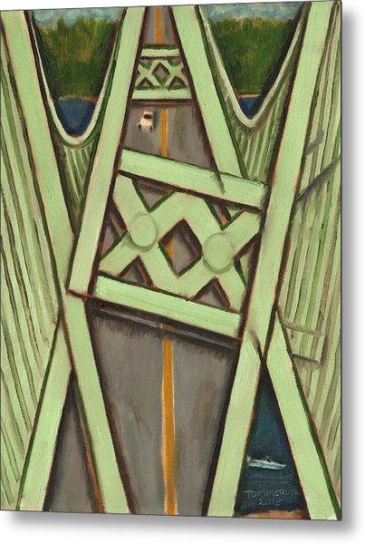 Tacoma Narrows Bridge Collapse  Metal Print
