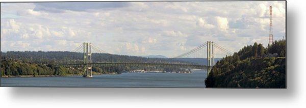 Tacoma Narrows Bridge Panorama Metal Print