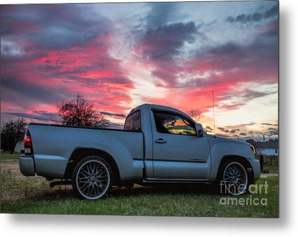 Toyota Tacoma Trd Truck Sunset Metal Print