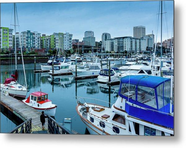 Tacoma Waterfront Marina,washington Metal Print