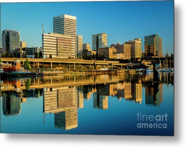 Tacoma's Waterfront,washington Metal Print