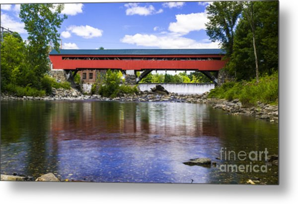 Taftsville Covered Bridge. Metal Print