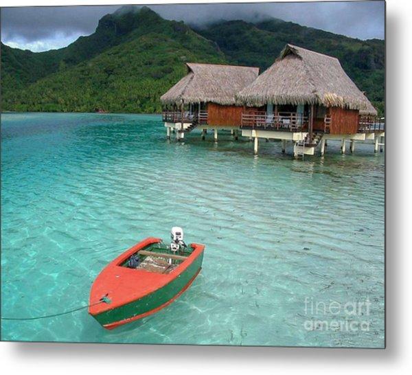 Tahitian Boat Metal Print