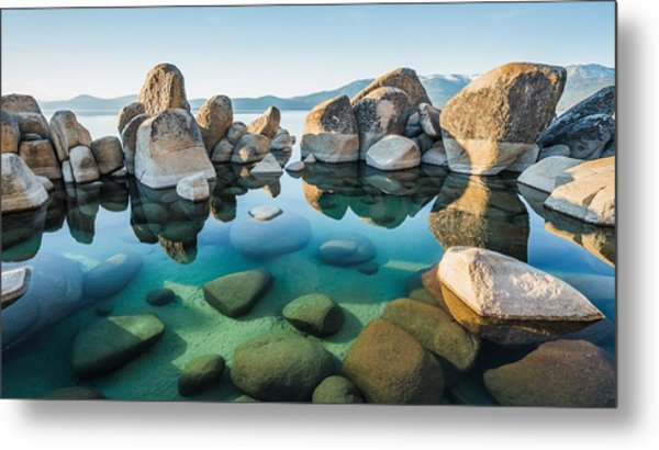 Tahoe Reflections Metal Print