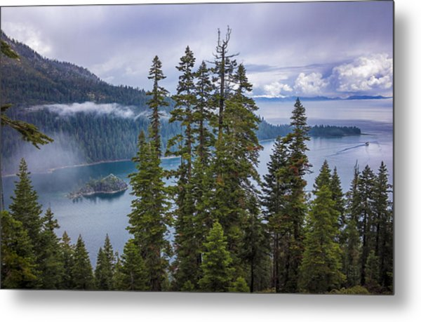 Emerald Bay With Steamboat Metal Print