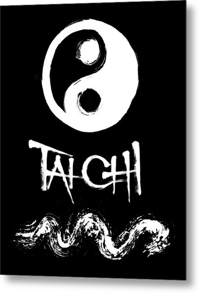 Tai Chi Black Metal Print