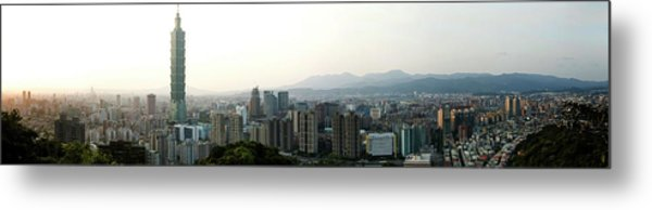 Taipei In Panorama Metal Print