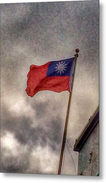 Taiwan Flag Metal Print