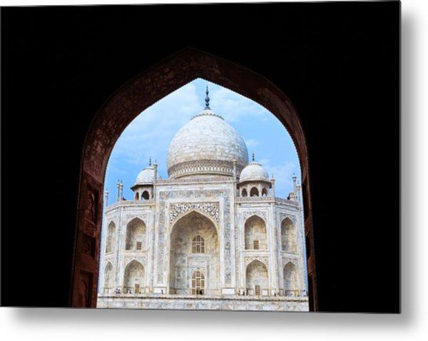 Taj Archway Metal Print by Nila Newsom