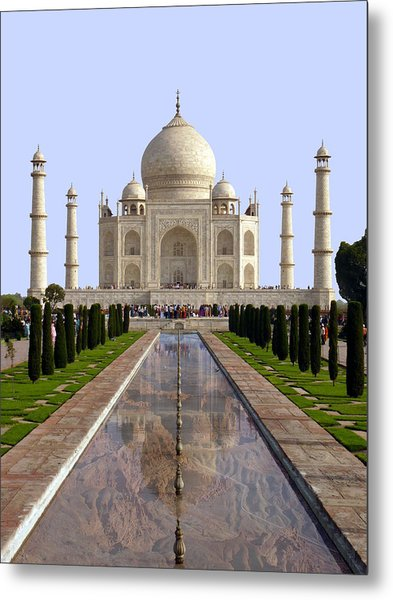 The Taj Mahal - Grand Canyon Mash-up Metal Print