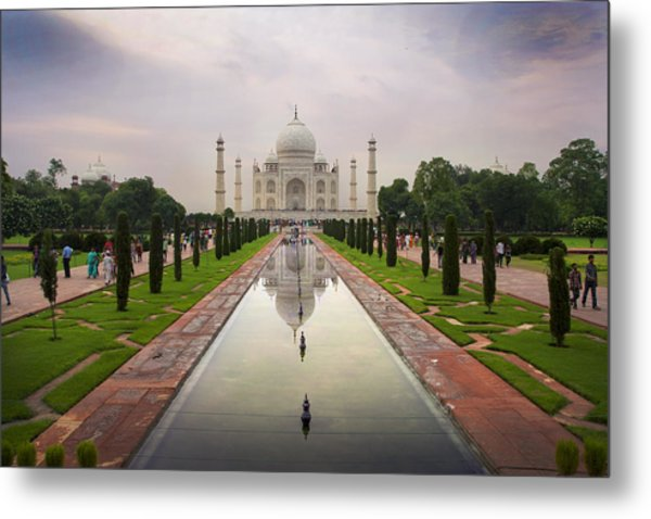 Taj Mahal At Sundown Metal Print