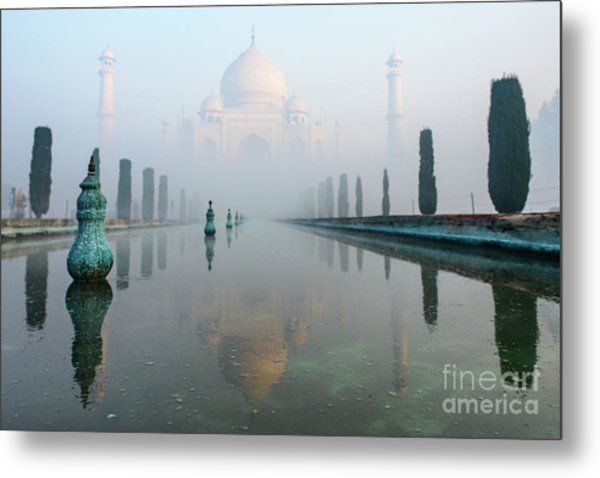 Taj Mahal At Sunrise 01 Metal Print