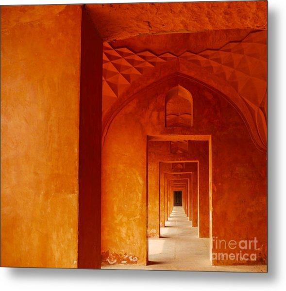 Doors Of India - Taj Mahal Metal Print