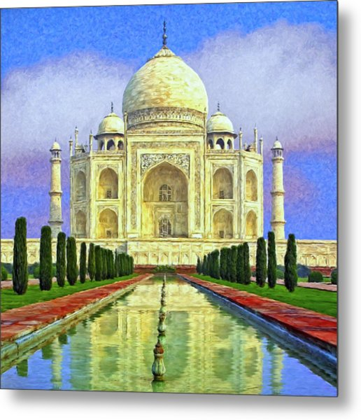 Taj Mahal Morning Metal Print