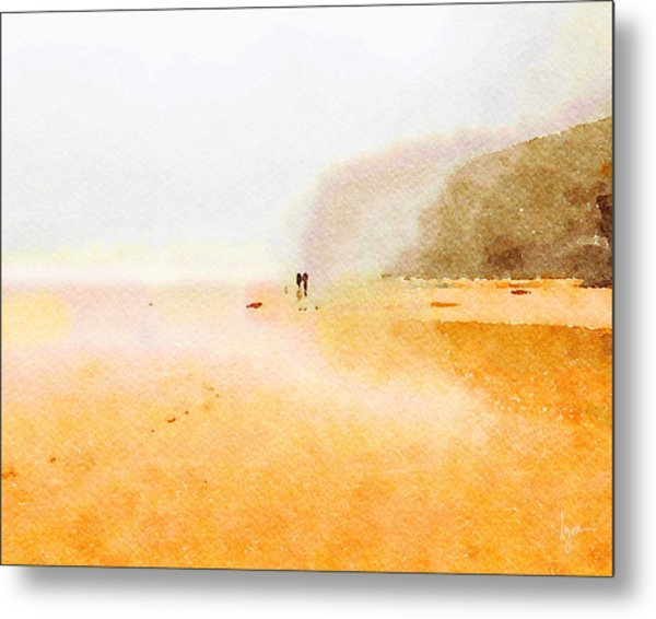 Metal Print featuring the painting Take A Walk With Me by Angela Treat Lyon